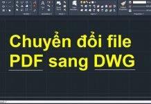 chuyen pdf sang cad