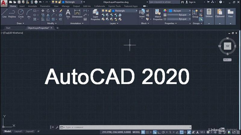 giao dien autocad 2020
