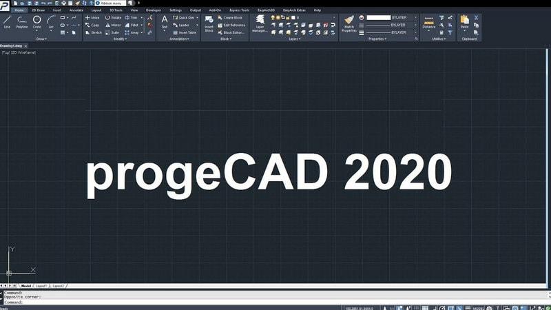 giao dien progecad 2020